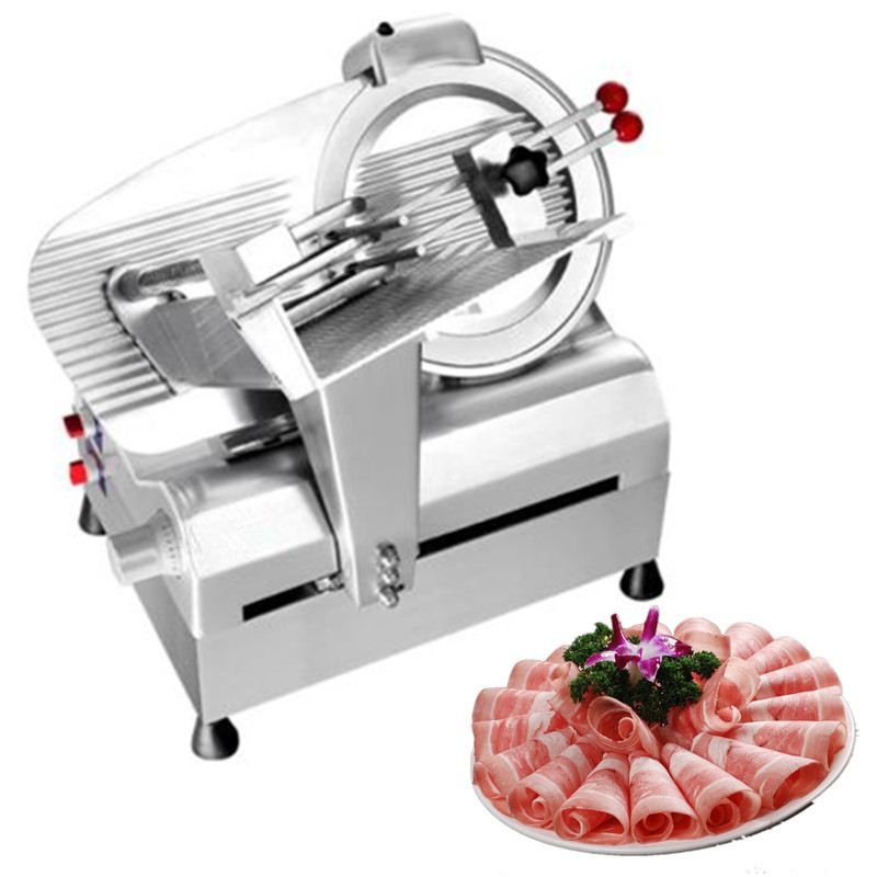 Automatic frozen meat roll slicer bade diameter 300mm lamb beef slicing machine