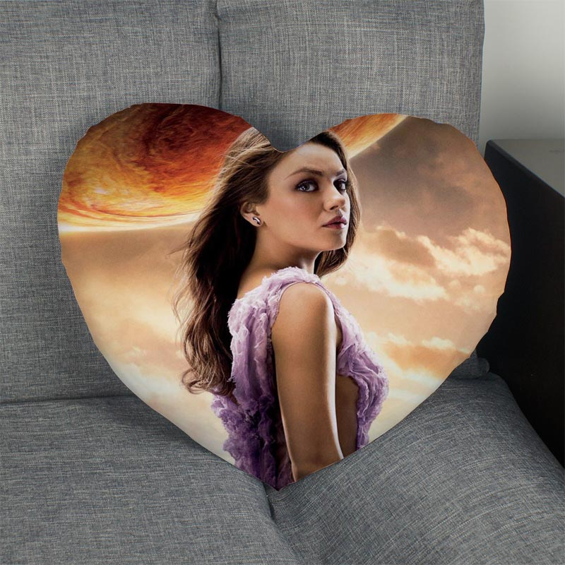 Custom Mila Kunis Heart Pillow Cover Custom Zipper