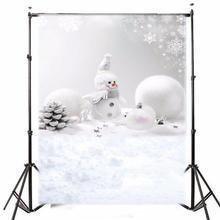5x7ft Винил Фотографии Фоном Рождество Снеговик Снежок фотографическое Фон для Studio Фотография Опора ткань 1.5×2.1 м