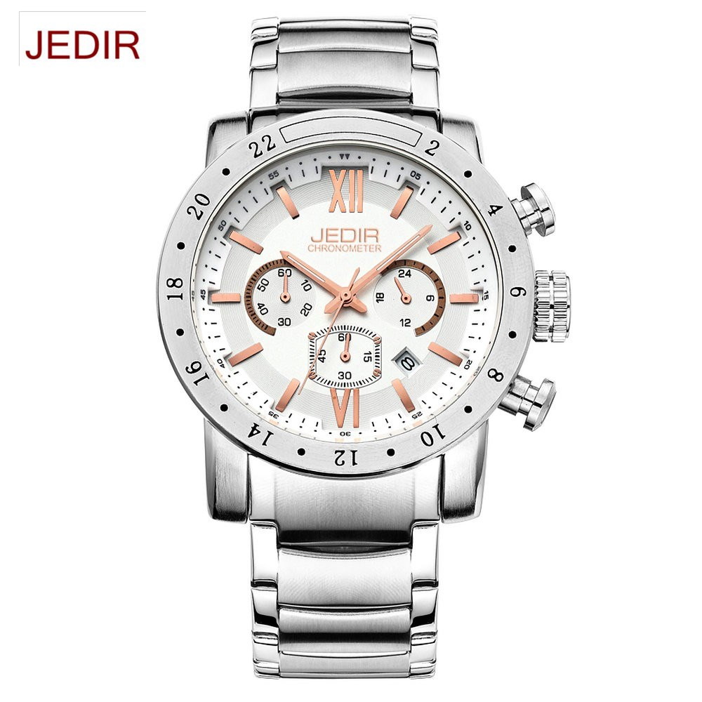 JEDIR Fashion Sports Watches Men Hour Date Clock Man Leather Strap Military Army Waterproof Quartz Wrist watch relogio masculino k03 553039700048 turbocharger for renault trafic ii 1 9dci 74kw turbo car engine f9q turbo chra turbine cartridge 53039880048