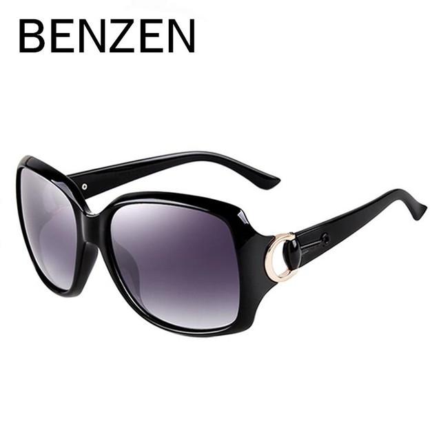 BENCENO gafas de Sol Polarizadas Diseñador de Las Mujeres gafas de Sol para Mujeres Mujer Gafas de Sol Gafas De Sol Feminino Tonos Con El Caso 6007