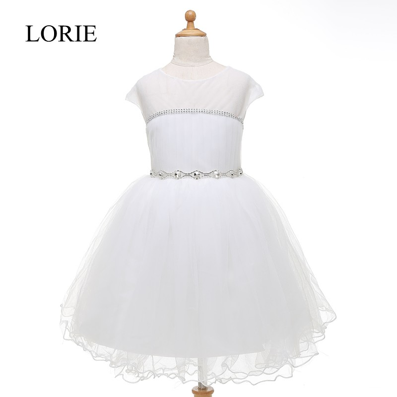 Flower     Girl     Dresses   For Weddings 2016 Crystals Cupcake   Dress   Baby Pageant   Dresses   For Little   Girls   With Cap Sleeve