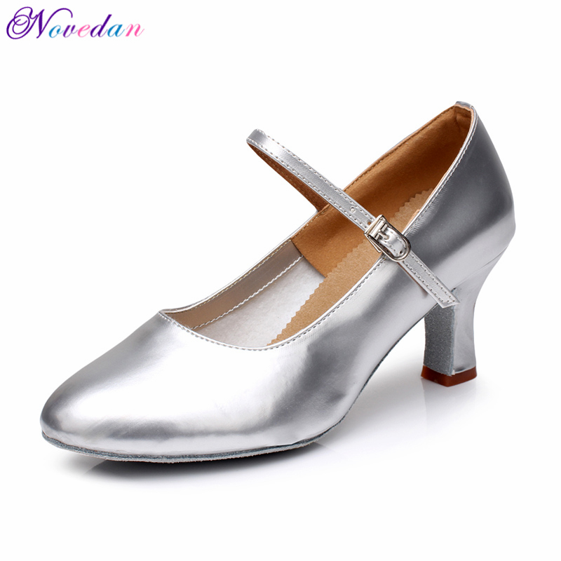 New Women Girls Ballroom Latin Tango Modern Dance Shoes Closed Toe Sandals Indoor Dancing Shoes Ladies Salsa Shoes in Dance shoes from Sports Entertainment