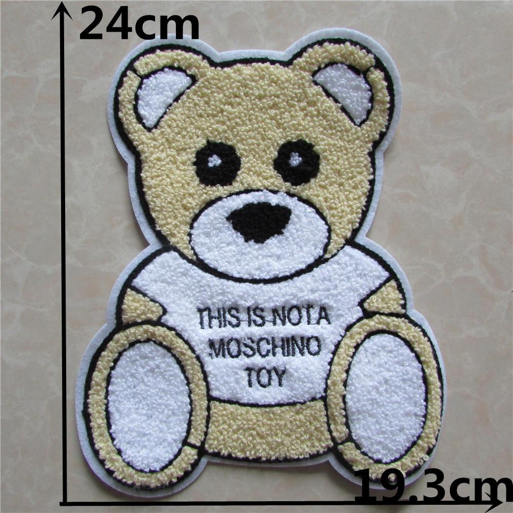 ᐂOso lindo 10 unids toalla bordada coser Pequeño Oso toalla tela ...