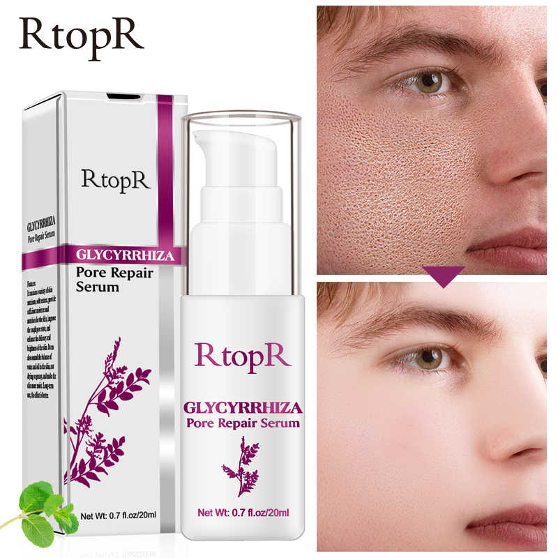 RtopR Glycyrrhiza Pore Refining Serum Quickly And Effectively Shrinks Pores Deeply Repairs Whitening Skin Enhances Facial Shine