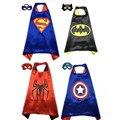 4 Накидки + 4 Маска Дети Супермен Бэтмен Человек-Паук Капитан Америка Косплей Плащ Дети Halloween Party Cosplay Накидки