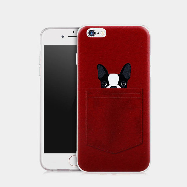 coque iphone 7 chien 3d