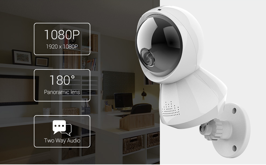 H.VIEW 1080P Panoramic Camera 180 CCTV Camera 720P IP Camera Wifi Camara IP Fisheye Video Surveillance Cameras (4)