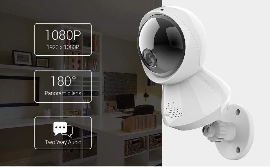 H.VIEW 1080P Panoramic Camera 180 CCTV Camera 720P IP Camera Wifi Camara IP Fisheye Video Surveillance Cameras (4)