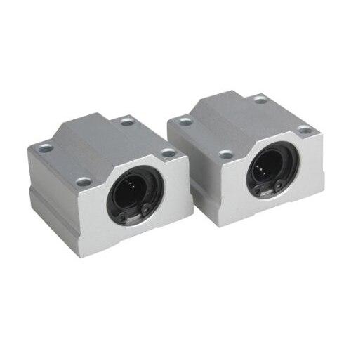 2Pcs 12mm SC12UU Linear Motion Ball Bearing Slider Slide Bushing Replacement CNC scv35uu 35 mm linear motion ball bearing slide unit bushing