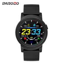 DAROBO Smart Watch men women 1.3″ round dial display Heart rate monitor Fitness Tracker Call SMS push Smartwatch For Android IOS
