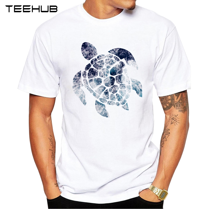 2019 TEEHUB Summer Men's Fashion Ocean Sea Turtle Printed T-Shirt Short Sleeve Popular Design Tops Novelty Tee
