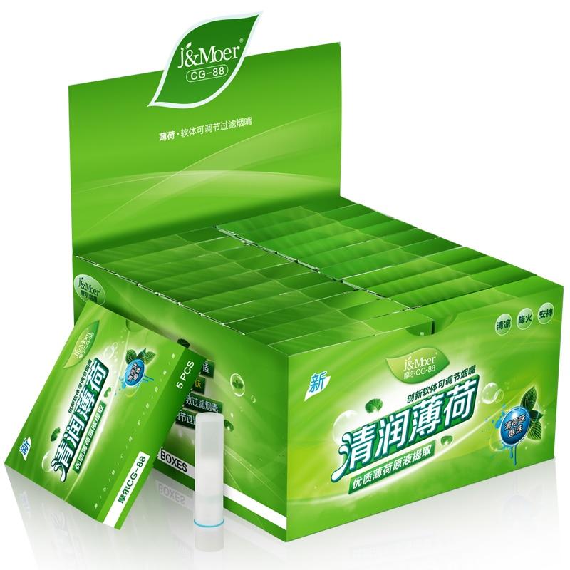 Disposable Cigarette Holder Filter Mint Explosion Pearl Cigarette Filter Healthly Men Smoking Menthol Flavor Cigarette Holder
