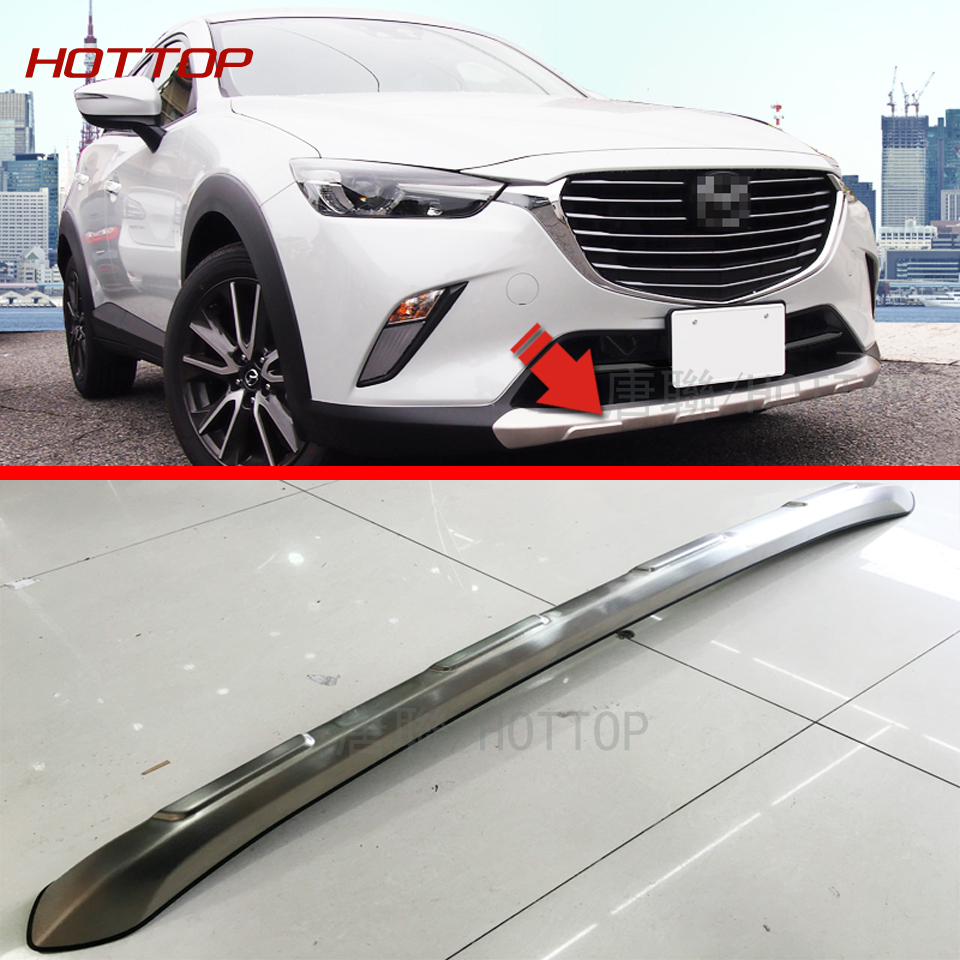 Stainless steel Front & Rear Bumper Skid Protector Guard For Mazda CX-3 CX3 2015 2016 2017 2018 stainless steel front rear bumper protector skid plate guard trim for porsche cayenne 2015 2016 2017