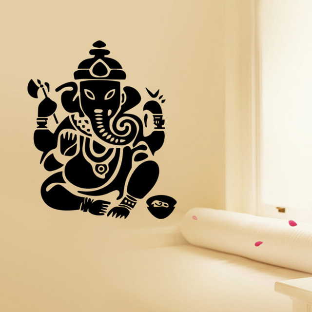 Promotion 9487 Buddhism India Mandala Wall Stickers Namaste Removable Creative Vinyl Wallpaper Mural Home Decoration