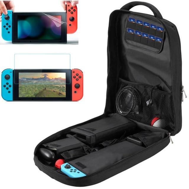 Sırt çantası saklama çantası Nintendo anahtarı için Nintendoswitch konsol çantası için dayanıklı Nintendo organizatör NS Nintendo anahtarı aksesuarları