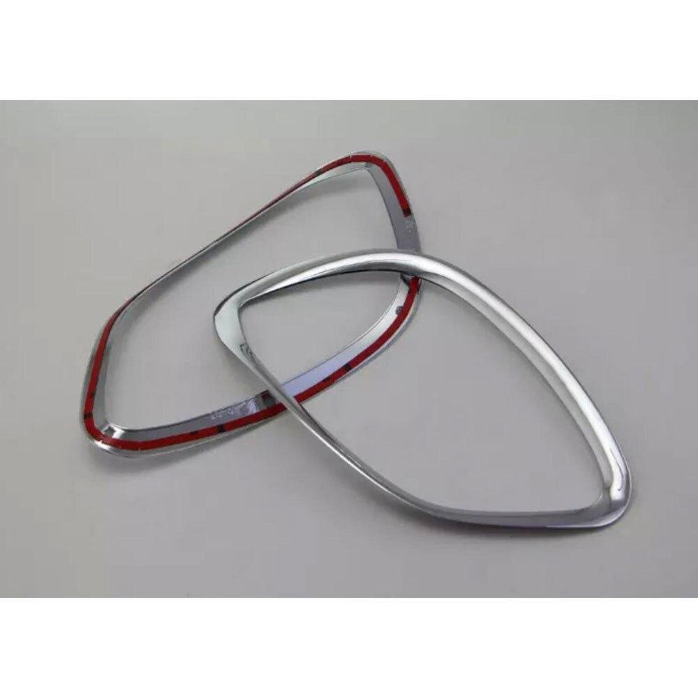 2Pcs Car styling Chrome Front Fog Light font b Lamp b font Cover Trim Fit Benz