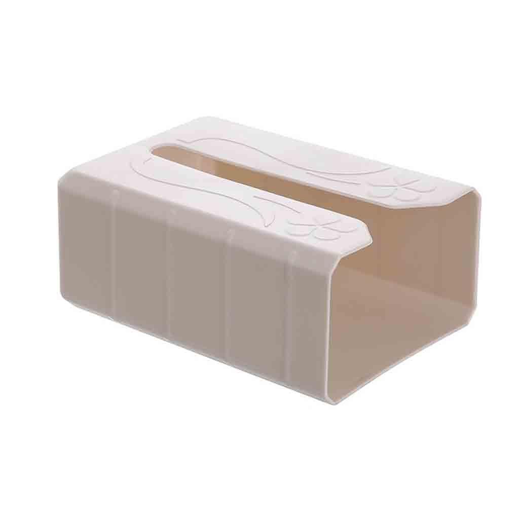 Водонепроницаемый Ванная комната перфорация туалетная бумага лоток Бумага крутящаяся Бумага ящик для инструментов - Цвет: Beige