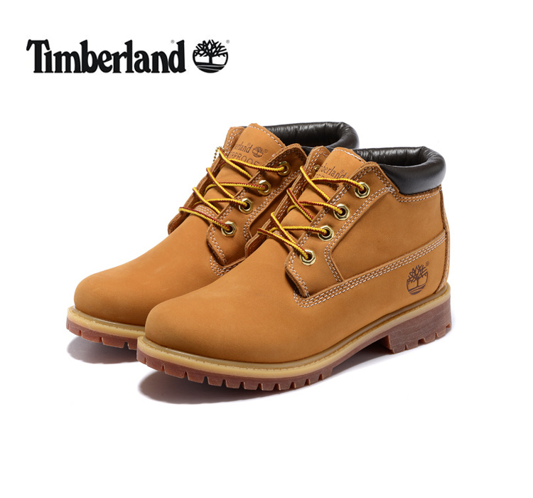TIMBERLAND Classic Women 23061 Premium 100% Waterproof Middle-Top Ankle Boots,Woman Genuine Leather Fashion Yellow Shoes 35.5-39