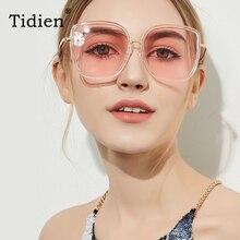 Vintage Square Metal Sunglasses Women Tidien Brand Designer Travel Shopping Driving Oversized Sun Glasses 81383