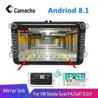 Camecho Android 2Din Car MP5 Multimedia Radio Video Player GPS Car Radio Auto Radio Stereo 8''Audio For Seat/Skoda Stereo Radio