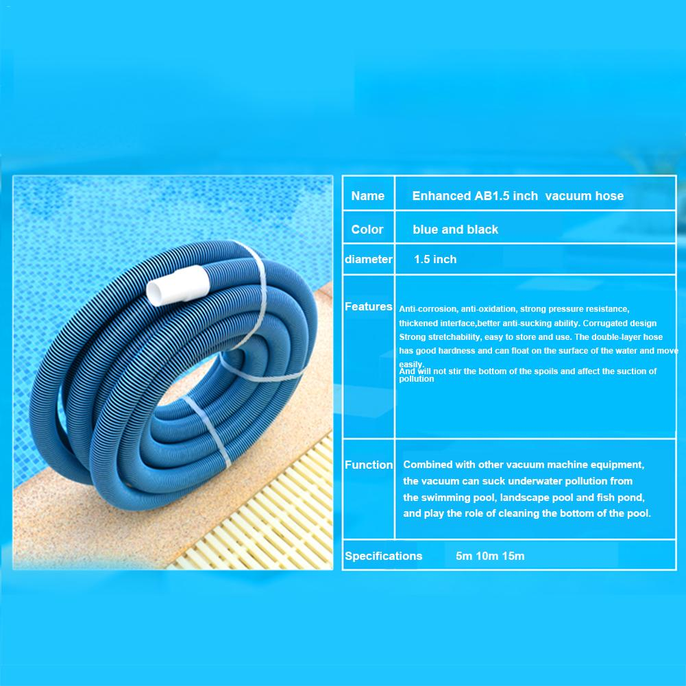 US $13.7 33% OFF|5m/10m/15m Heavy Duty In Ground Pool Vacuum Hose With  Swivel Cuff Swimming Pool Vacuum Hose Cleaning Swimming Pool Accessories-in  ...