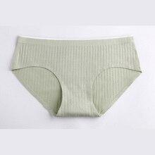 DEWVKV Breathable Soft Sexy Panties For Women Low Rise Elastic Female Underwear Natural Color Cotton Briefs Lingerie LXD