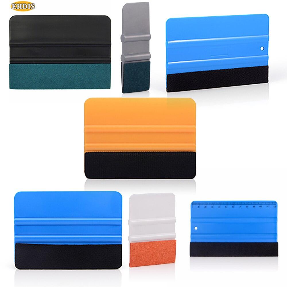 EHDIS Vinyl Car Wrapping Card Scraper Auto Carbon Film Felt Edge Squeegee Car Styling Sticker Wrap Accessories Window Tint Tool