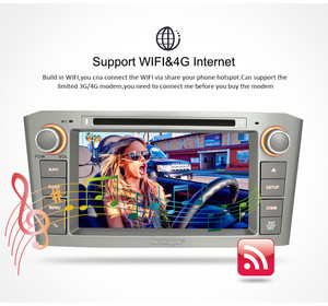 Image 4 - 7 IPS 4G RAM Android 9.0 Car DVD GPS Navigation Player For Toyota Avensis/T25 2003 2008 WIFI FM Video Radio Stereo Multimedia