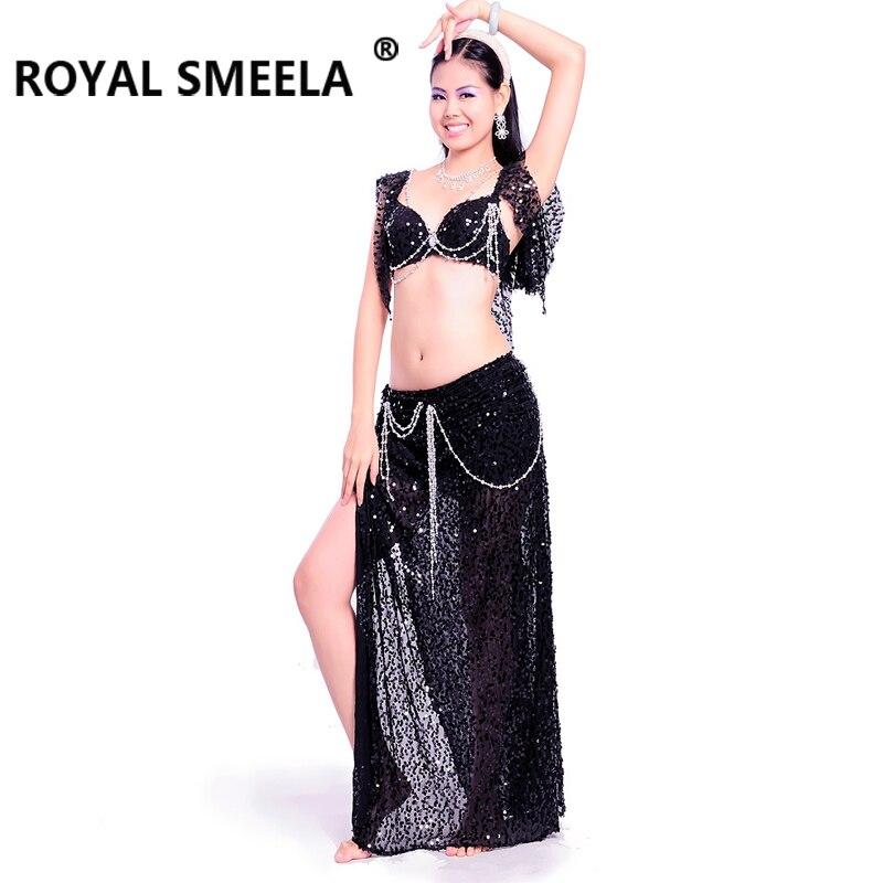 Penjualan panas pengiriman gratis desain baru berkualitas tinggi kostum tari perut / pakaian / rok BRA dengan manik-manik - 7013