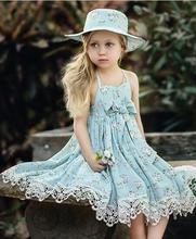 2017 Kids Girls Crochet Lace Dresses Baby Girl Floral Halter Dress Babies Fashion Summer Clothing Childrens Clothes