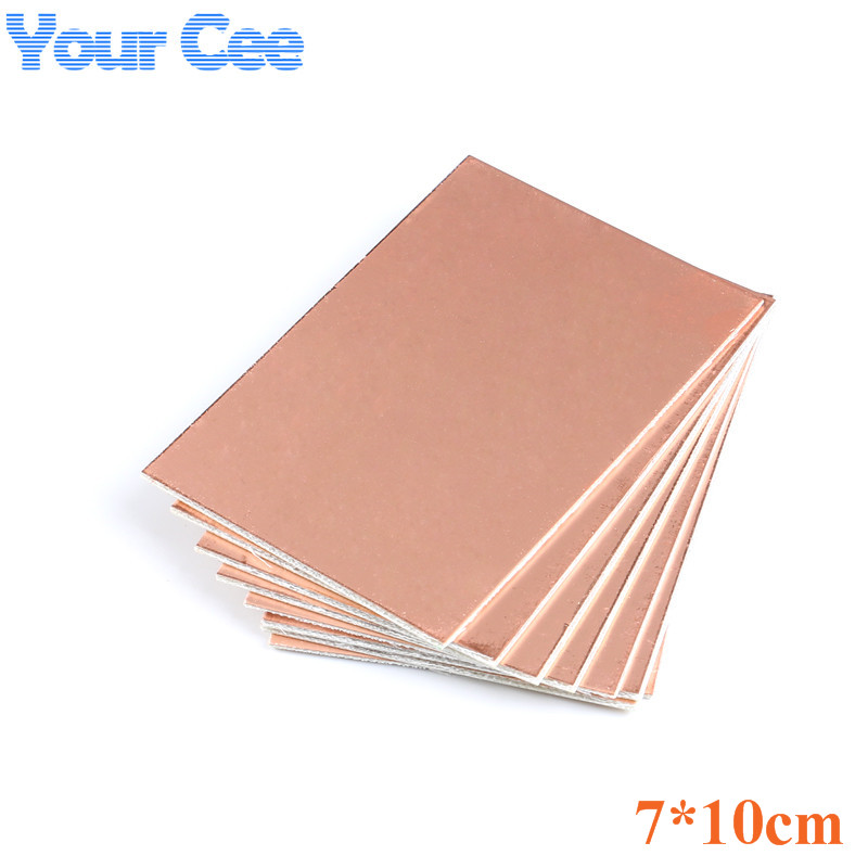 5 Pc 7*10CM Single Side Circuit Board Copper Clad Plate Laminate Universal PCB Circuit Board Glass Fiber Reinforced Copper