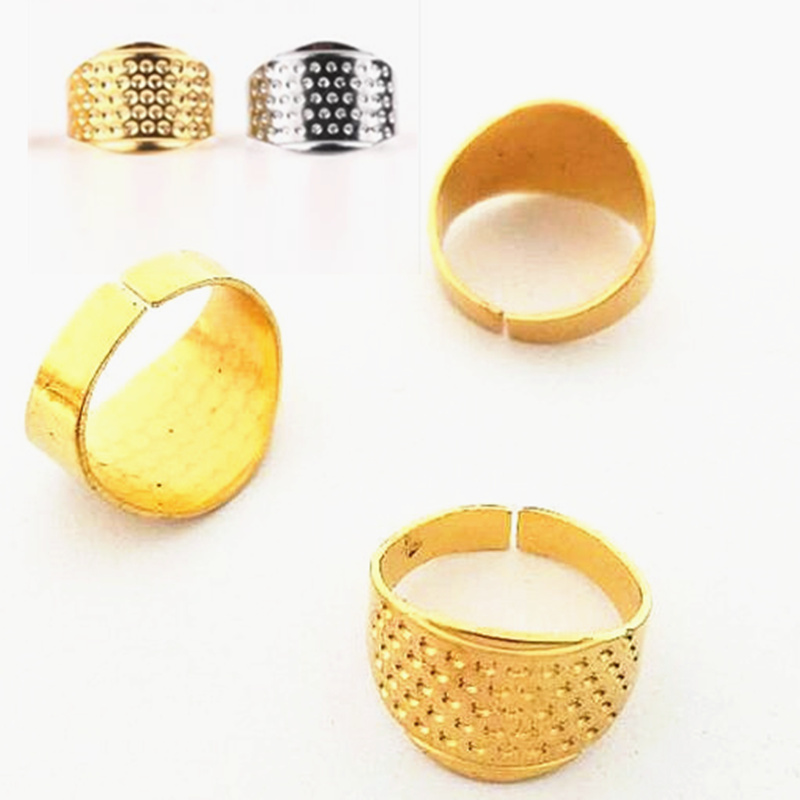 Adjustable leather thimble Great for hand stitching 3 PCS  fit any finger size
