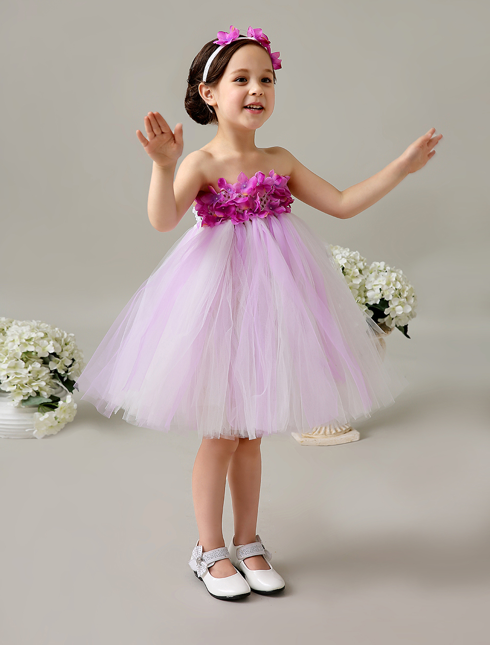 Ball Gown Tulle little girls dresses with Appliques Pageant dresses princess kids formal dress headpiece is