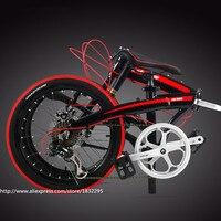 SıCAK Katlanır Bisikletler 7 Hız 20/22 inç Alüminyum Tek Yuvarlak Komple Dağ Bisikleti için Womens Beyaz Kid'sBicycle