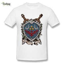 купить Graphic Men's the Legend of Zelda T Shirt Classic Game Skyward Sword Link T-shirt Fashion Streetwear дешево