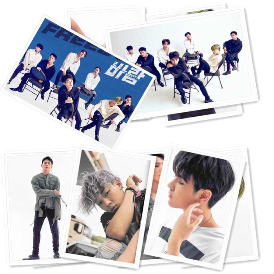 Kpop Ikon New Kids:Continue New Album Polaroid Lomo Photo Card Fans  Collective Photocard 40pcs/set Poster
