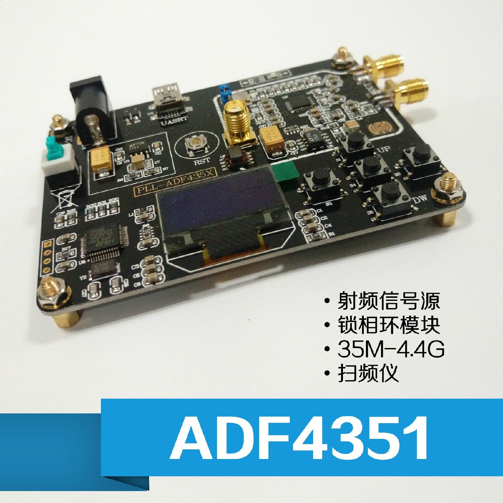 ADF4351 Board STM32 Single Chip Phase-locked Loop Module 35M-4.4G RF Signal Source SweeperADF4351 Board STM32 Single Chip Phase-locked Loop Module 35M-4.4G RF Signal Source Sweeper