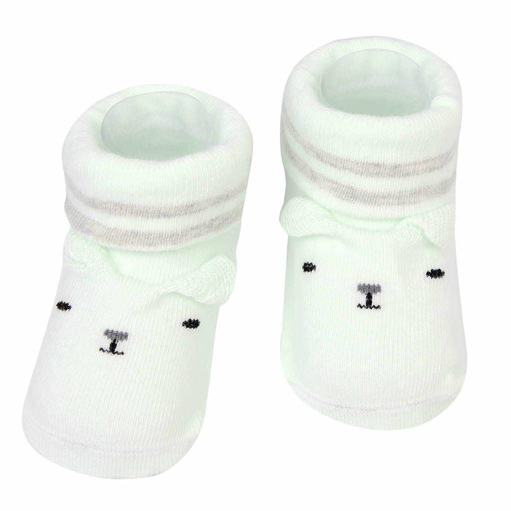 ทารกแรกเกิดเด็กชายหญิงการ์ตูนหูถุงเท้า Anti - Slip Baby Step รองเท้าถุงเท้า