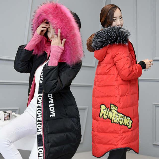 Frauen Daunenjacke Pink Pelz Wintermantel Weiße Ente Unten Parkas Kapuze Thicking Warm Outwear Tops Echte Waschbär Plus Größe 5xl 6xl
