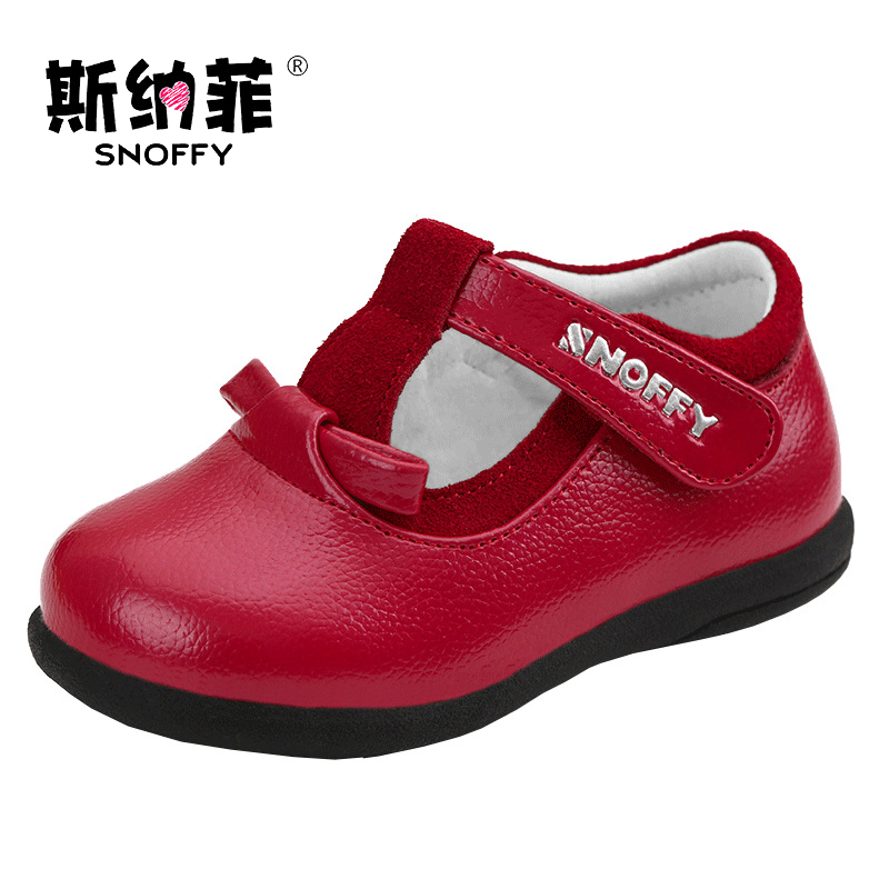 Snoffy Children Leather Shoes Genuine Leather Girls Princes Shoes First Walker Spring Autumn Toddler Baby Shoes TX276