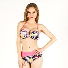 0e2bfa40b5d288 Bikini kobiety stroje kąpielowe floral sexy powrotem koronki kostium  kąpielowy strój kąpielowy biqiuni sling duży rozmiar duży k.