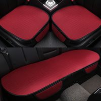 3PCS Breathable Ice Silk Four Seasons Car Seat Cushion Protector Pad Front Rear Pad Fit for Most Cars Summer Cool Auto Cover