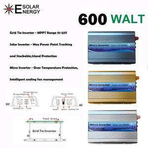 Image 2 - על מהפך עניבת רשת 600W 18V DC קלט 220V AC פלט עם MPPT פונקצית 99% יעילות טהור סינוס גל עבור אנרגיה סולארית מערכות