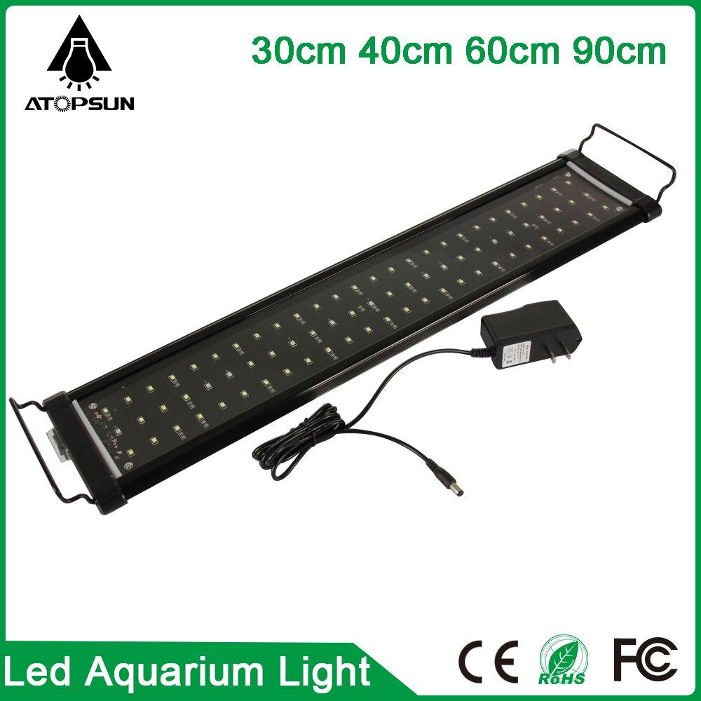 1pcs 30cm 40cm 60cm 90cm LED Aquarium light Fish Tank Lighting aquarium Lamp White Blue 2
