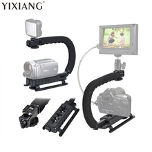 YIXIANG DV C shaped Camera Handheld Holder flash bracket U-hand Motion Stabilizer stable frame Grip for video 5d2 DSLR SLR