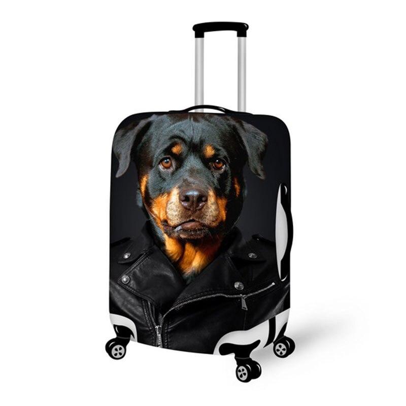 Топ Модная молодежная черная собака шаблон Чемодан крышка багажа Чехол 18-28 дюймов молния на нагрузки дорожные аксессуары
