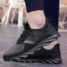Outdoor Sport Shoes Low Top Sneakers Men Plus Size Lightweight Knit Upper Running Athletic Run Cushioning Fitness Shoe