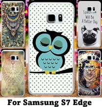 Aniaml Painting Phone Cover For Samsung Galaxy S7 Edge G935A G935F Cases With OwlDogTiger Hard Plastic and Soft TPU Phone Skin