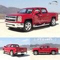Brand New KINGSMART 1/46 Escala Chevrolet Silverado Pickup Truck Diecast Metal Tira Del Coche Modelo de Juguete Para El Regalo/Niños/colección